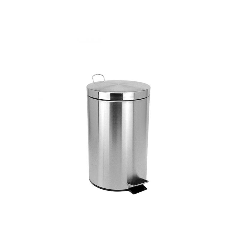 Кошче за отпадъци с педал, метално, 20 Литра,  с капак