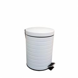 Coș de gunoi alb din metal...