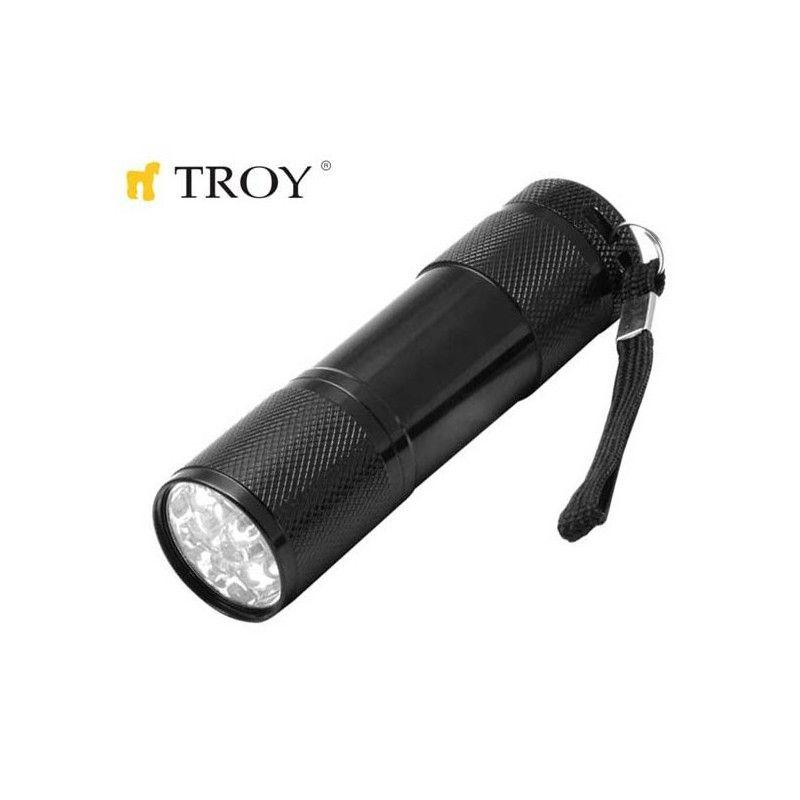 Алуминиев ръчен фенер с батерии / Troy 28093 /