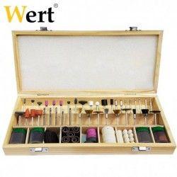 Комплект за рязане, гравиране и полиране 200 части, за мини гравири / Wert 6200 /