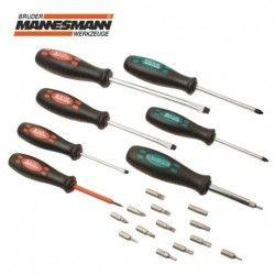 Комплект отвертки и битове 21 части  / MANNESMANN 1190-21 /