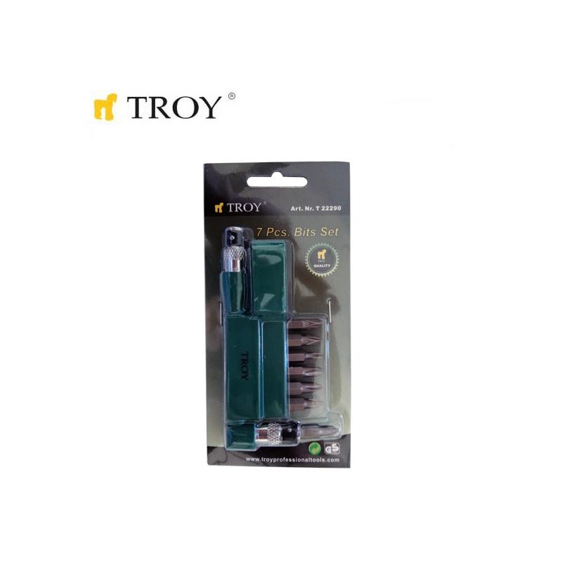 Комплект Г-образна ръкохватка с накрайници  / TROY 22290 /