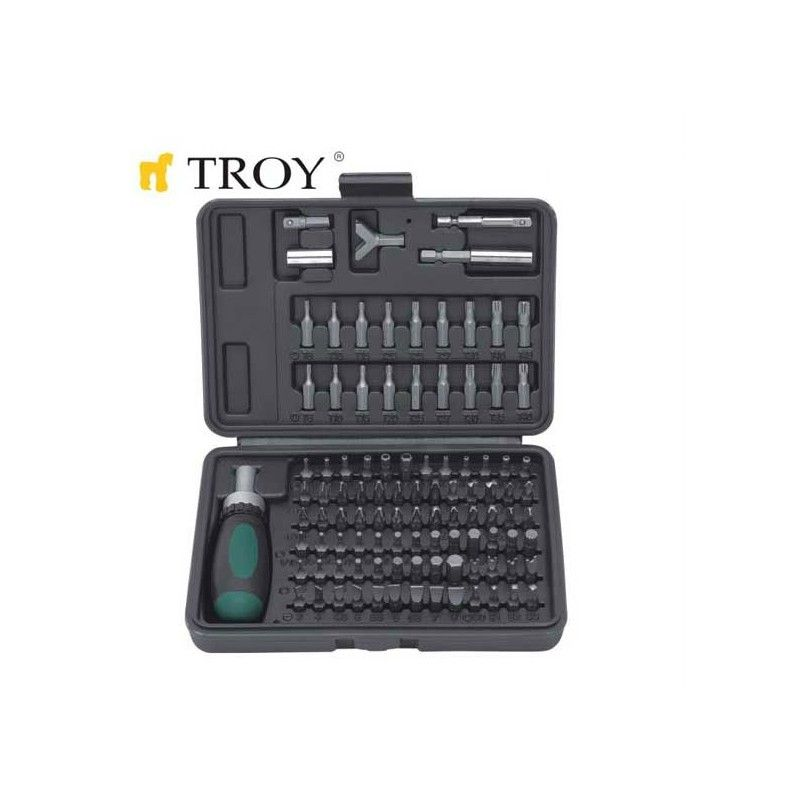 Replaceable Bit Screwdriver Set 101 Pieces  / TROY 22309 /