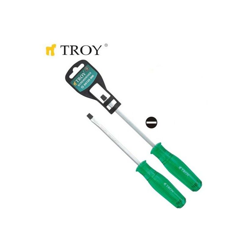 Strike-Through Screwdriver - Slotted (5,0x75mm) TROY - 1