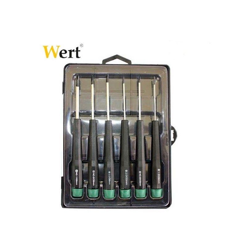 Комплект отвертки за електроника 6бр. / WERT 2262 /
