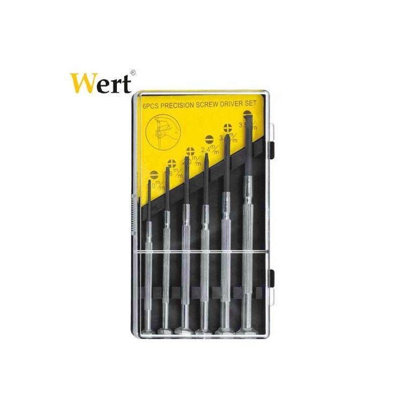 Комплект фини отверки, 6 броя  / WERT 2251 /