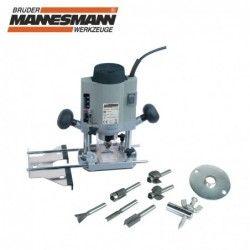 Router / Mannesmann 12860 / 1020 W with 6 pcs. instruments