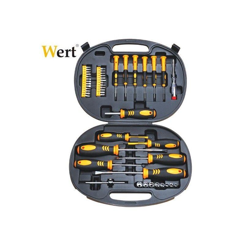 Комплект отвертки, накрайници и вложки 49 бр / Wert 2236 /