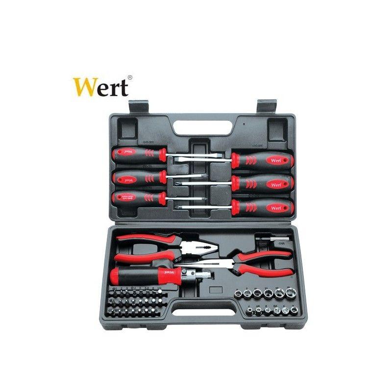 Комплект отвертки с клещи, вложки и битове, 45 части / Wert 2245 /