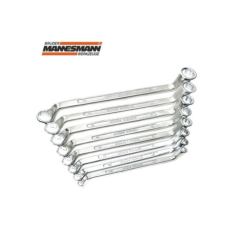 Двустранни ключове тип лула 12 бр. 6-32 мм / MANNESMANN 140-12 /