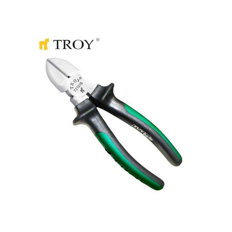 Клещи странична резачка, 180 мм / TROY 21017 /