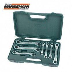 Комплект тресчоти ключове тип лула 7 бр. 6 - 19 мм  / MANNESMANN 27400 /