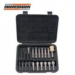 Комплект накрайници за отвертка и свредла, 18 части  / MANNESMANN 29818 /