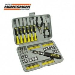 Screwdriver, bit and socket set 75 pieces  / MANNESMANN 29876 /