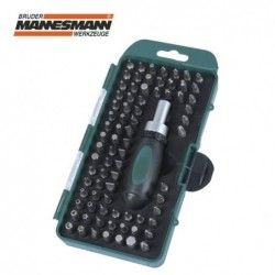 Screwdriver handle with bits set 79 pieces / MANNESMANN 29894 /