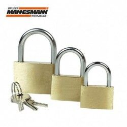 Padlock set 3 pieces 25, 30, 40 mm / Mannesmann 413-3 /