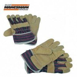 Pair of working gloves - split leather / Mannesmann 41702 /