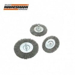 Wire wheel brush 75 mm / Mannesmann  439-F-075 /