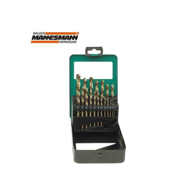 Комплект професионални свредла, от стомана HSS-M 35, 1-10 мм, 19 бр