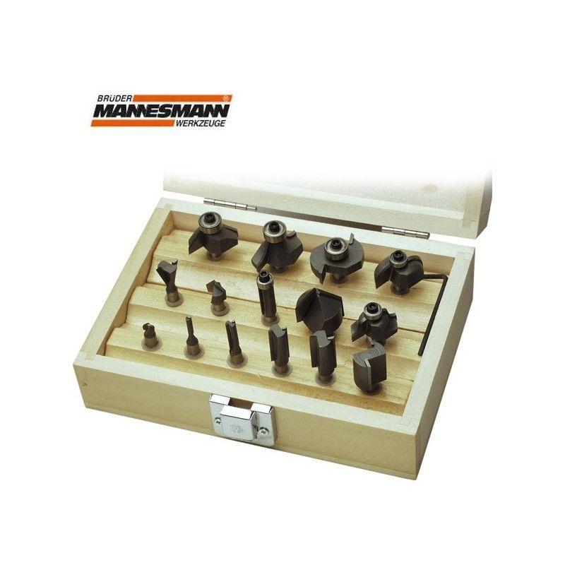 Комплекти фрезни накрайници за дърво, Ф 6 мм, 15 бр