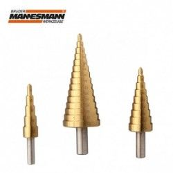 Conical center bit set for...