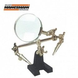 Stand with magnifying glass...