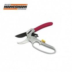 Aluminium garden shears with ratchet / Mannesmann 63210 /