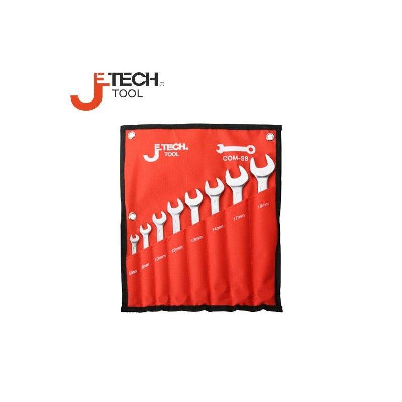 Комплект звездогаечни ключове, 8 броя / JeTECH COM-S8A /