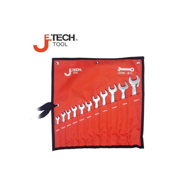 Комплект звездогаечни ключове, 11 броя,  5.5-22мм  /  JeTECH COM-S11 /