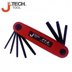 Torx key set - fold-able, 8 pieces  / JeTECH FT-8 /
