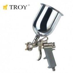 Бояджийски пистолет 1.5mm с горно казанче / TROY 18670 /