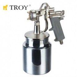 Бояджийски пистолет 1.5mm с долно казанче / TROY 18671 /