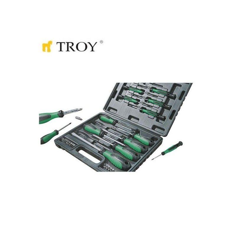 Комплект професионални отвертки, 32 части  / TROY 22332 /