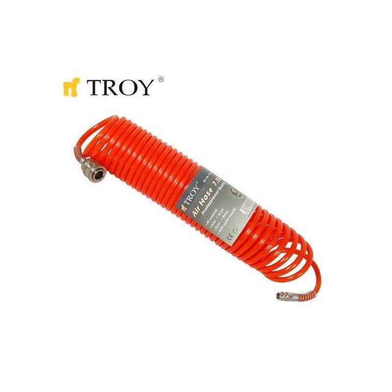 Спираловиден маркуч за въздух / Troy 18607 /