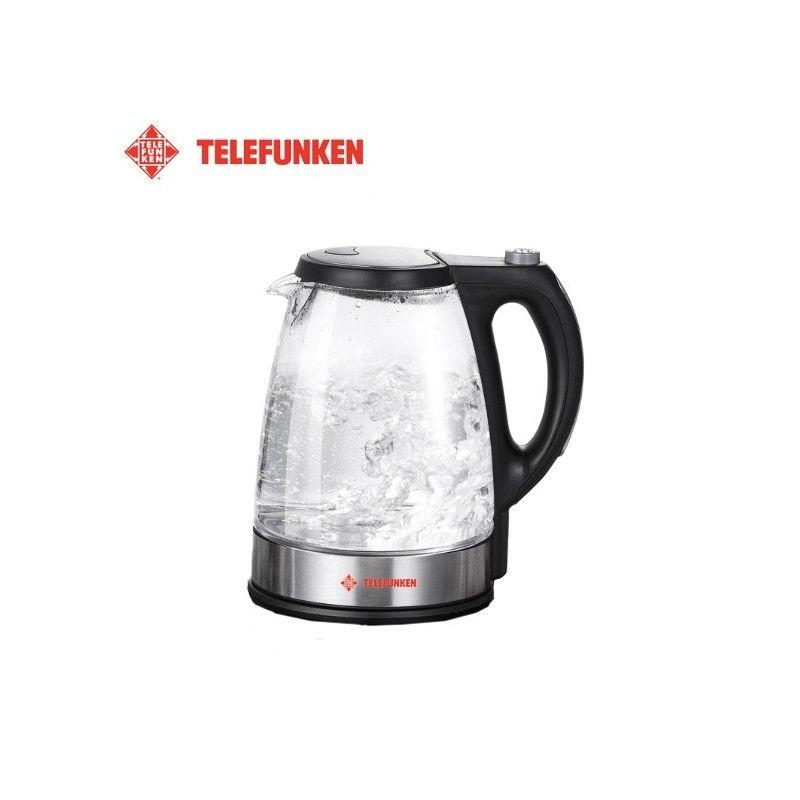 Електрическа стъклена кана 1.7 литра, син LED / TELEFUNKEN 8711252223230 /