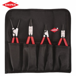 Roll bag with straight circlip pliers - 4 pieces  / KNIPEX 001957 /