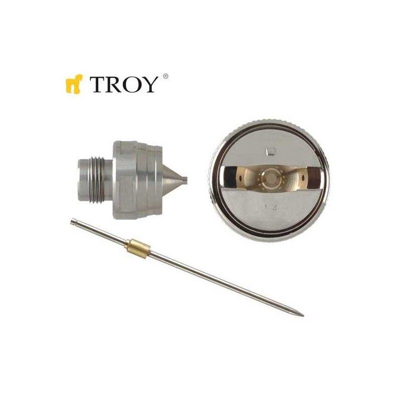Troy Комплект резервна дюза с игла за бояджийски пистолети 1.7mm