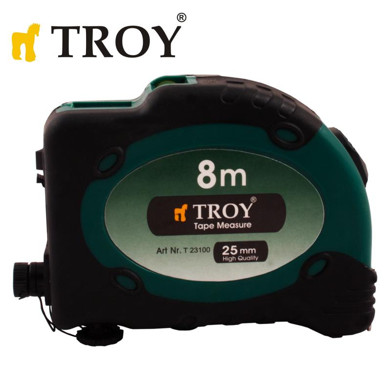 Ролетка със стопер и лазер 8 x 25mm / Troy 23100 /