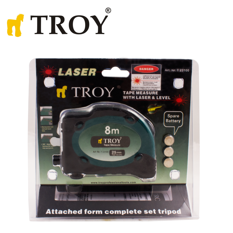 Laser Tape Measure 8 x 25mm / Troy 23100 / TROY - 5