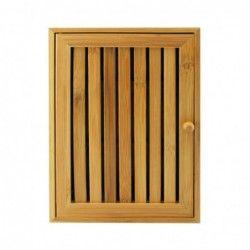 Bamboo box for keys, 8 hooks