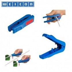 Инструмент за оголване на кабели - за коаксиални и обикновени Combi-coax No. 3, 4.8 - 7.5 mm / WEICON 52000003 /