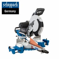 Комбиниран потапящ циркуляр за ъглово рязане HM120L / Scheppach 3901216901 / 2000 W, 305 мм