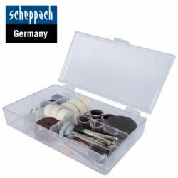 Комплект накрайници за гравиране и шлайфане 64 части / Scheppach 3901402701 /