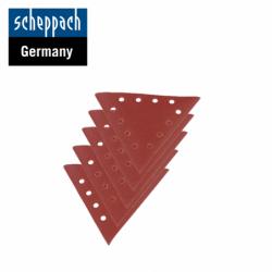 Триъгълна шкурка за шлайфане Едрост 120, 10 броя / Scheppach 7903800603 /