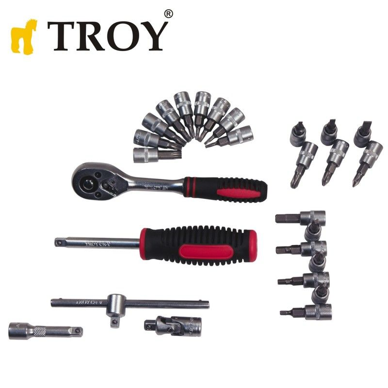 Socket Set 40Pieces, Metric / Troy 26100 / TROY - 7