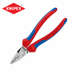 Crimping Pliers 180mm  / KNIPEX 9772180 / for end sleeves  ferrules