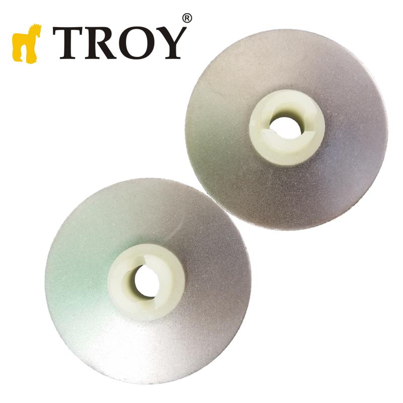Резервен диск за заточване на ножове, 2 броя, за Troy 17058 машина за заточване