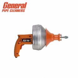 """Ръчна електрическа машина за почистване на канали Super-Vee """"Small Drain Specialist"""" SV-B-WC / General pipe cleaners 100452 /"""