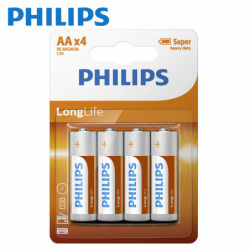 Batteries Philips AA Long...