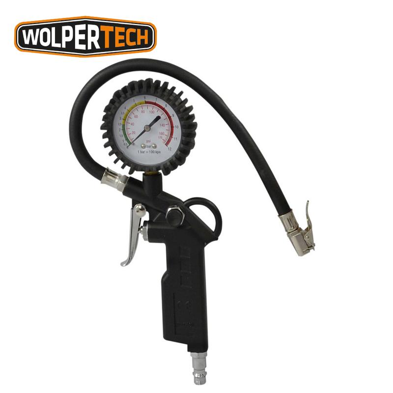 Пистолет за помпене на автомобилни гуми с манометър / WOLPERTECH 04013 /